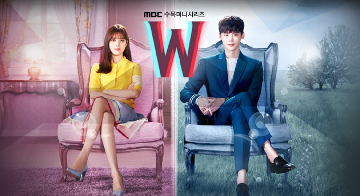 A poster for MBC drama 'W,' starring Han Hyo-joo, left, and Lee Jong-suk / Courtesy of MBC