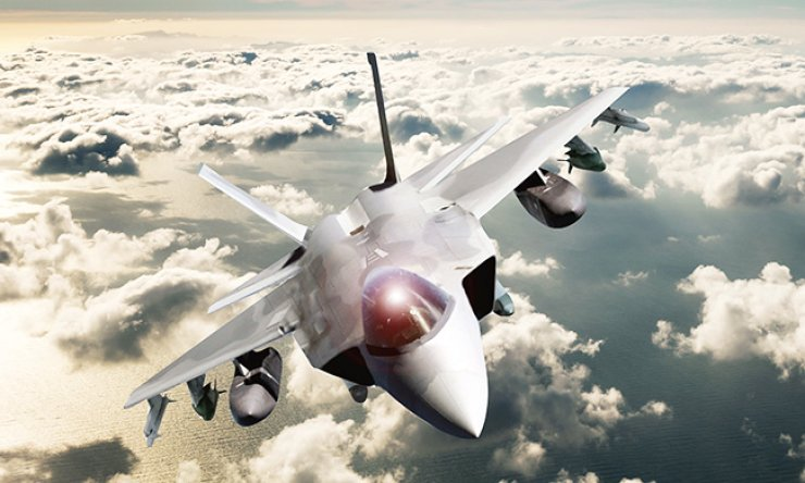 An artist's concept of KF-X fighter