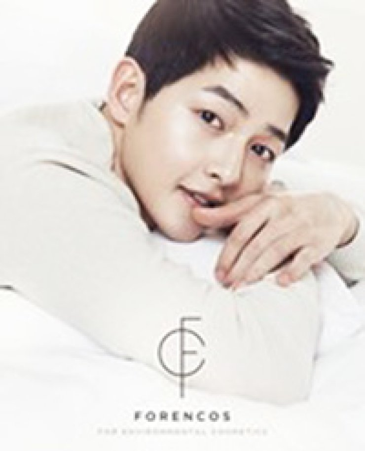 Actor Song Joong-ki appears in commercials for cosmetics brand Forencos.