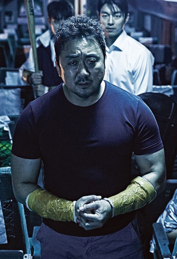 Don Lee in a scene from 'Train to Busan'