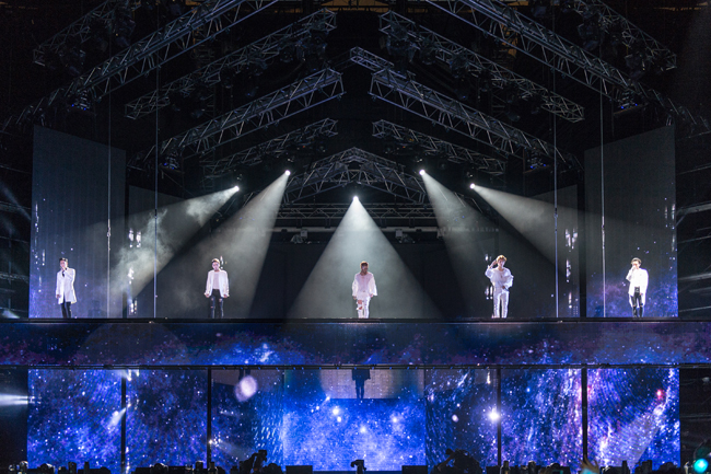 K Pop Band BigBang Performs During Their 10th Anniversary Concert BIGBANG10 THE CONCERT 0TO10 At Seoul World Cup Stadium In Western Saturday