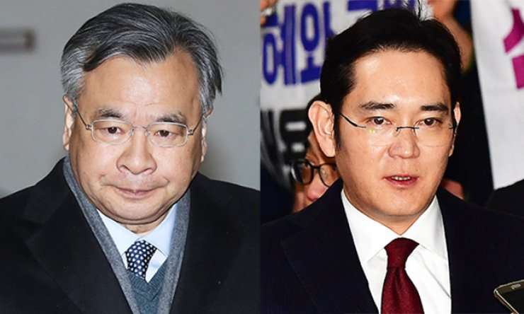 Special Prosecutor Park Young-soo, left, and Samsung Electronics Vice Chairman Lee Jae-yong