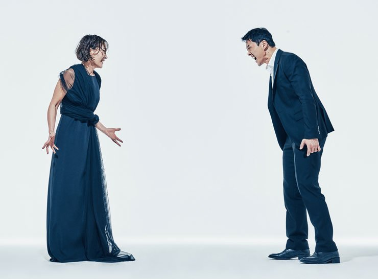 Lee Hye-young, left, as Medea and Ha Dong-jun as Jason in Robert Alfoldi's production of 'Medea' / Courtesy of National Theater Company of Korea