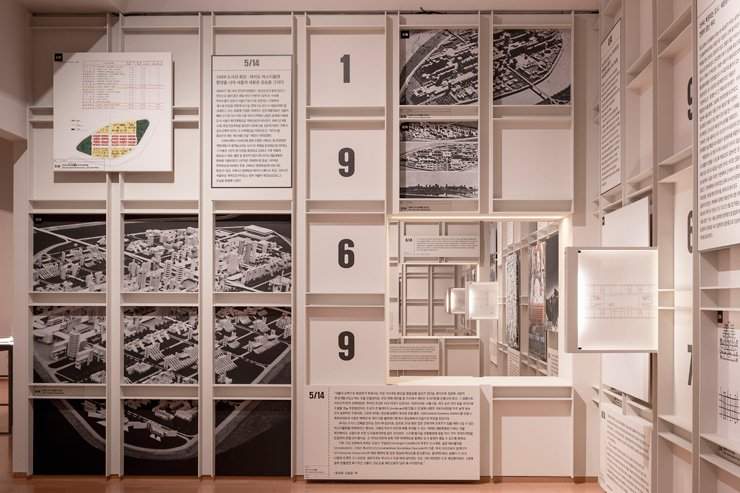 An installation view of 'Yoon Seung-joong: Architecture, Drawing As Sentence Construction' exhibition at the National Museum of Modern and Contemporary Art, Gwacheon / Courtesy of MMCA