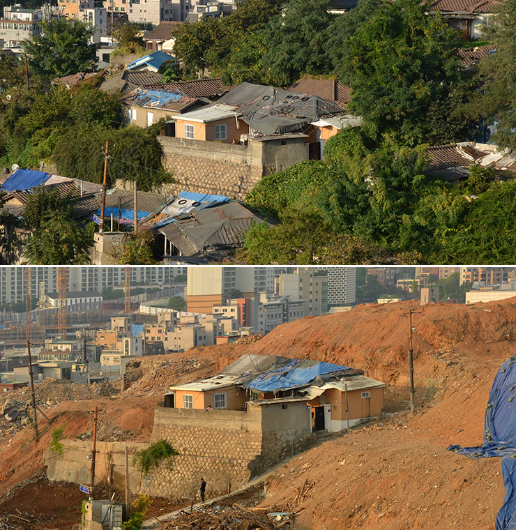 Bamgol Village is nestled within a crescent-shaped ridge in Dongjak-gu, southern Seoul, in this picture taken Sept. 8, 2012. / Korea Times photo by Jon Dunbar