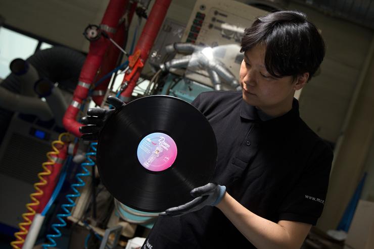 Machang Music & Pictures operates the Korea's only vinyl pressing plant in Seongsu, eastern Seoul. / Korea Times photo by Choi Won-suk