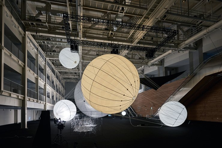 Argentinian artist Tomas Saraceno's 'Our Interplanetary Bodies' is on display at the Asia Culture Center in Gwangju. / Courtesy of Asia Culture Center