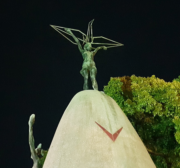 Sadako Sasaki's paper cranes are on display at the Peace Memorial Park in Hiroshima, Japan. / Courtesy of Dr. Chris Baumann.