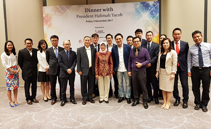 PHOTO NEWS: Dinner with Singapore's president