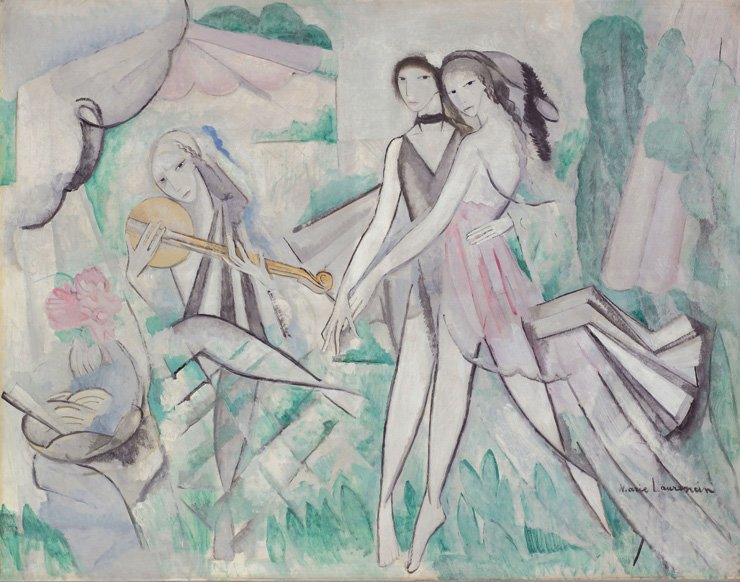 Marie Laurencin's 'Elegant Ball or Country Dance' (1913) is on view at the Hangaram Museum of the Seoul Arts Center in southern Seoul through March 11, 2018. / Courtesy of Seoul Arts Center