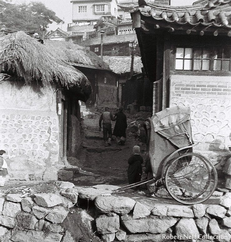 Was this the last rickshaw in Seoul, May 1948.