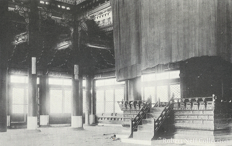 Throne room, circa 1900-1920.
