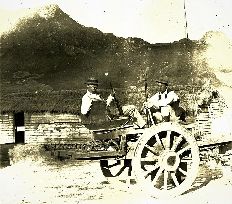 Armed Americans at the OCMC concession, circa 1900s, Courtesy of the Lower Family.