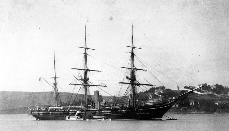 The U.S.S. Mohican in the late 19th century. Wikipedia image