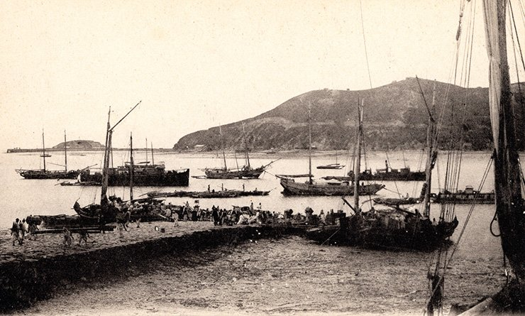 Jemulpo harbor, circa 1900, courtesy of Diane Nars.
