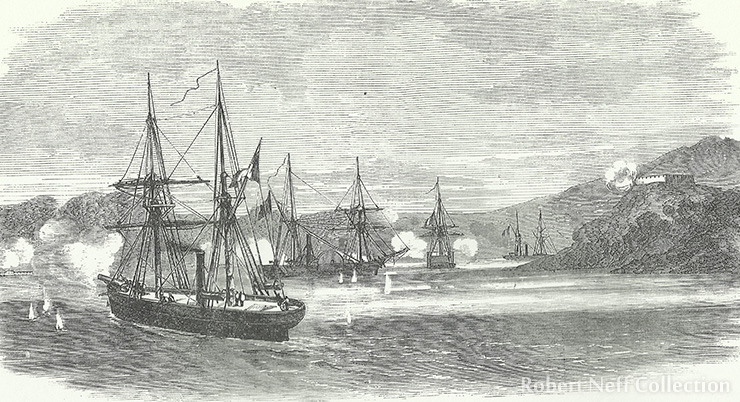 The French attack on Ganghwa Island in 1866.