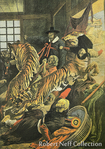 Tiger hunters circa 1905. Courtesy of Robert Oechsle