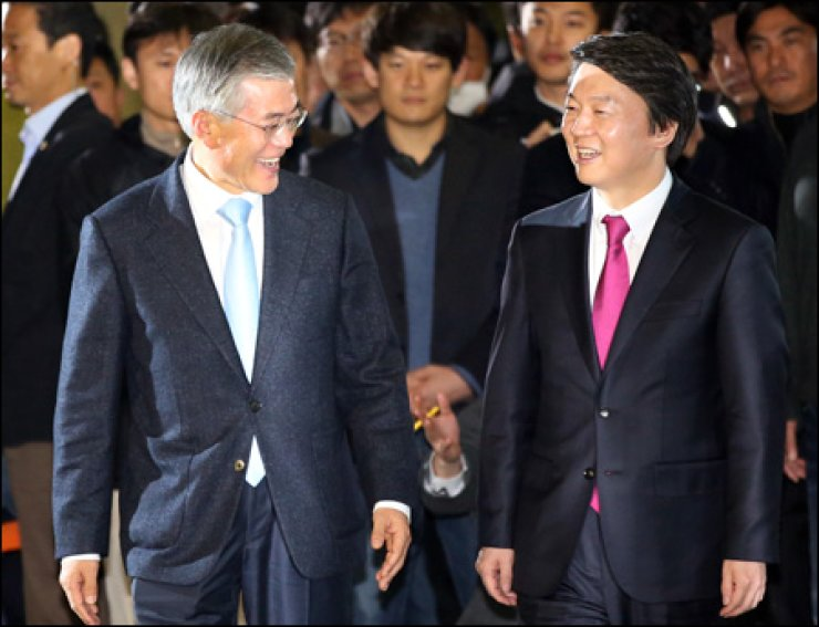 Officials of Park's camp labeled the agreement between Moon and Ahn as a 'closed-door political maneuver' for an election victory. 'Their alliance discussion is a mere political show that is attempting to fool the people,' Rep. Lee Hye-hoon said. The prospect of Park becoming the country's first female president will face a major obstacle if the two liberal heavyweights successfully form an alliance.