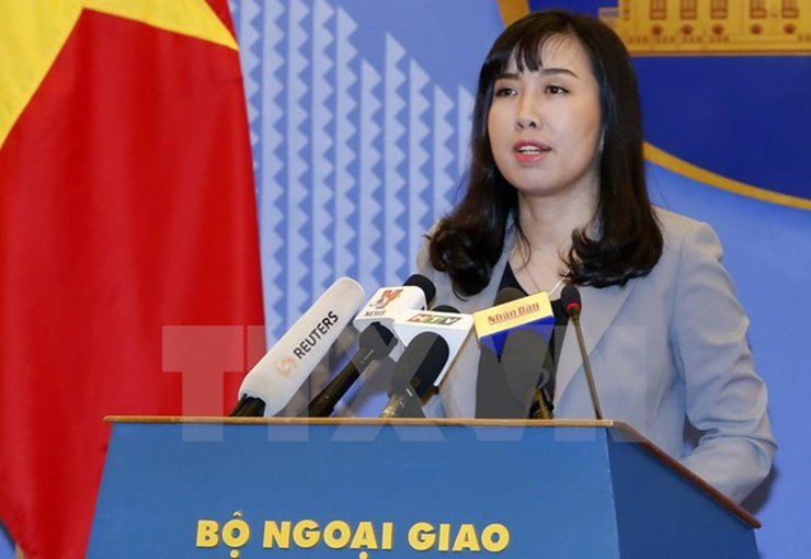 Vietnam's foreign ministry spokesperson Le Thi Thu Hang