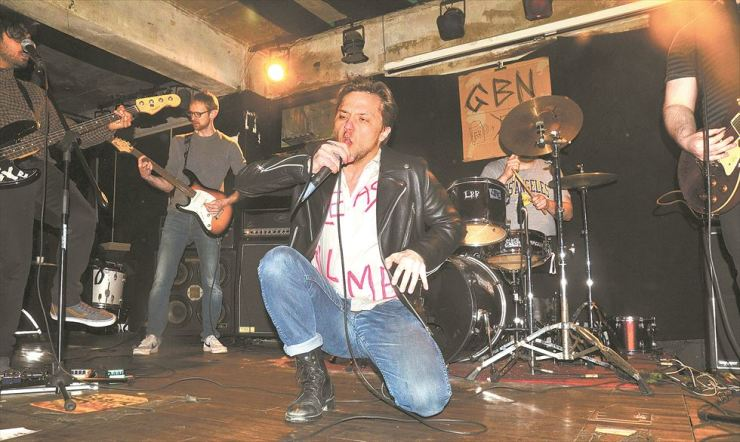 Food for Worms performs at GBN Live House in Mullae-dong in this Feb. 18 file photo. The band has one final show this weekend as singer Kyle Decker, center, is leaving the country.