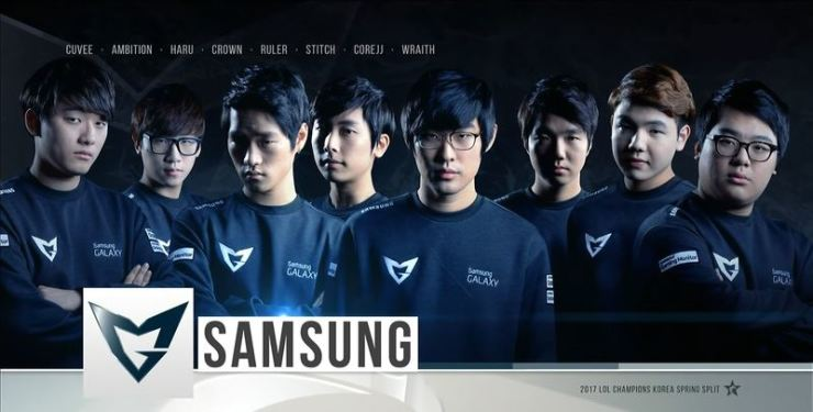Members of Samgung Galaxy in 2017 League of Legends Champions Korea Spring / Courtesy of OGN, Gamepedia