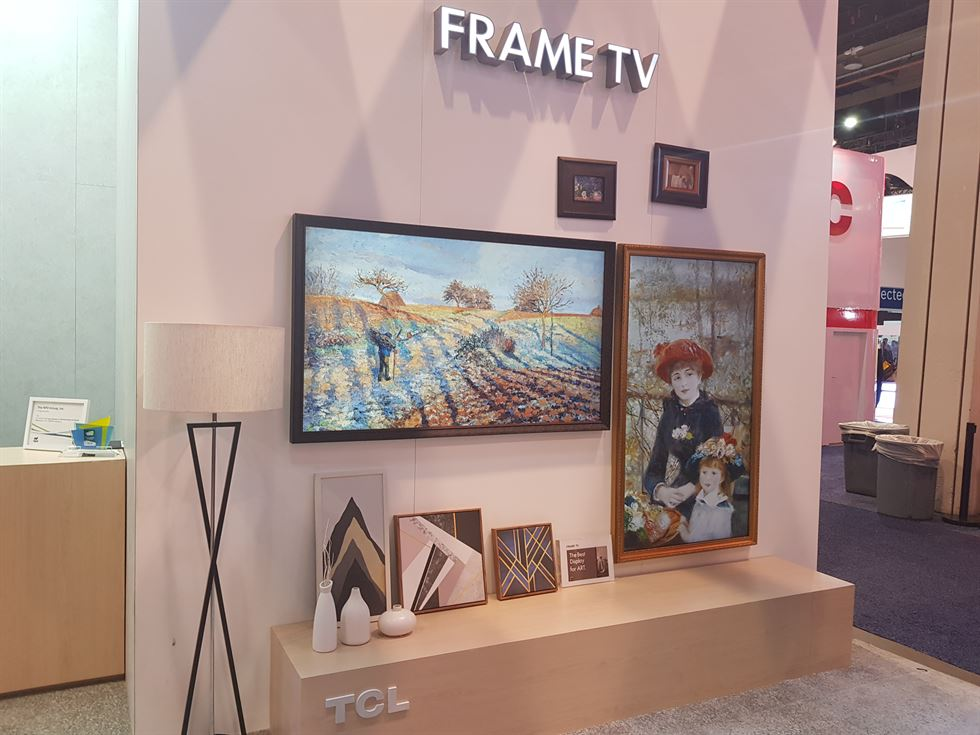 CES 2018] Chinese vendor copies Samsung FRAME TV at tech fair