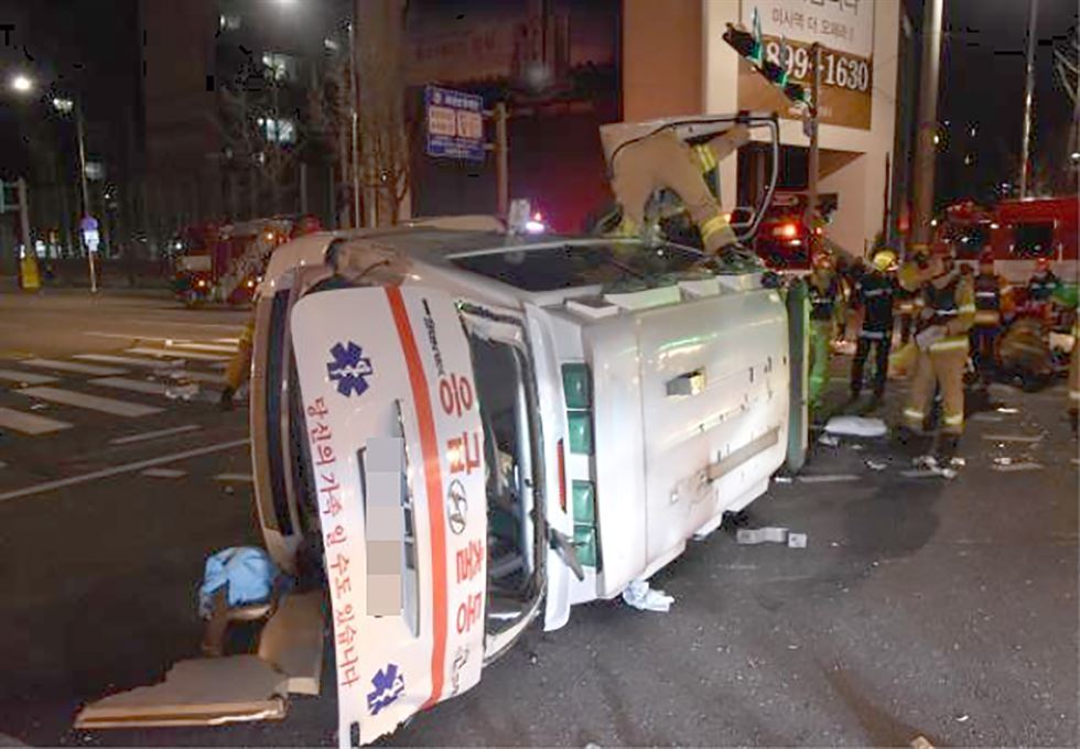 Ambulance driver booked for running red light in emergency