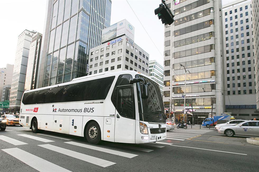 Autonomer Bustest in Südkorea von KT