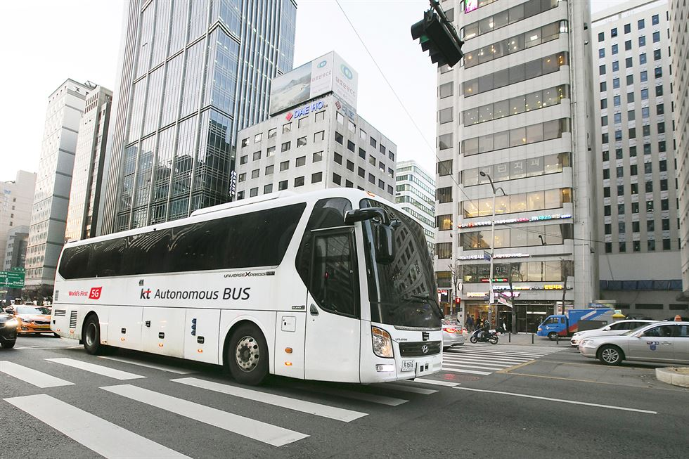 Autonomer Bus Test Südkorea