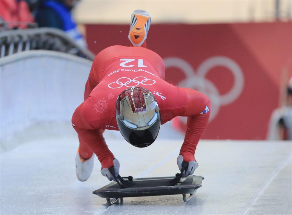 Korean Rocket Yun Sung-bin, Korean skeleton racer, is on the run. / Yonhap