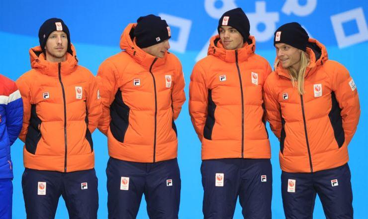 Dutch speed skaters. / Yonhap