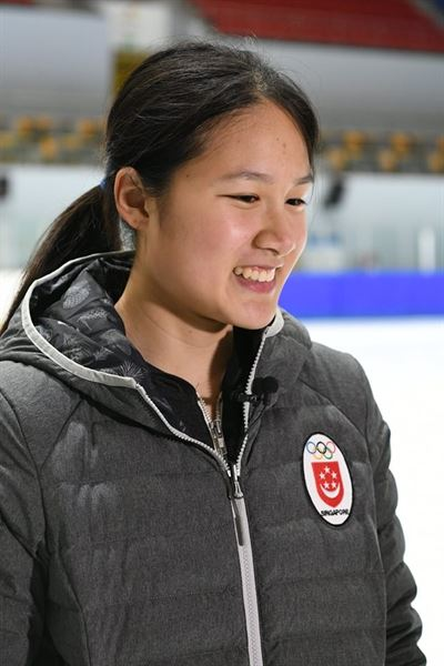 Singapore's short track speed skater Cheyenne Goh is the first Singaporean to compete at the Winter Games. / Courtesy of Singapore National Olympic Council