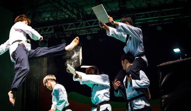 World Taekwondo hopes its demonstration team's performance in Pyongyang will bring South and North Korea closer. / Courtesy of World Taekwondo