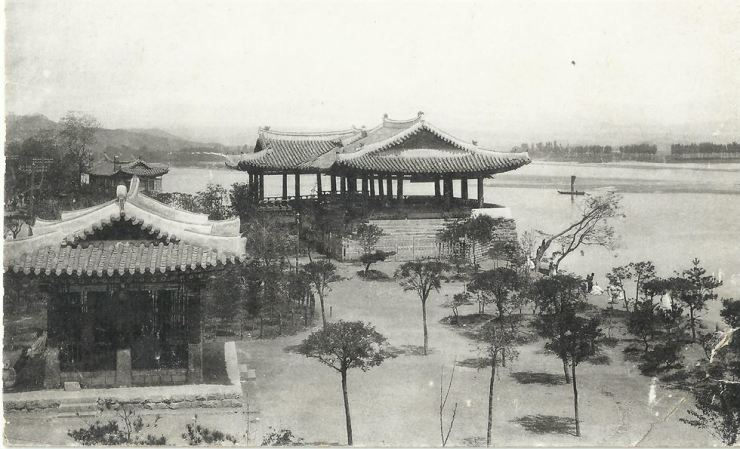 Ryongwang Pavilion in Pyongyang hosted a U.S. delegation in 1891. / Robert Neff Collection.