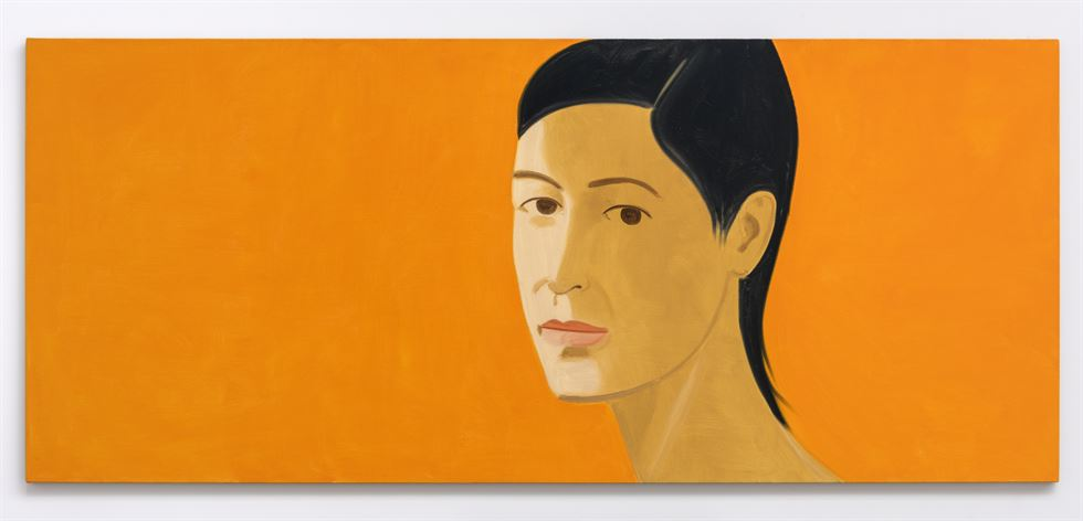 U.S. artist Alex Katz produced this portrait of his wife Ada in the namesake work in 2011. Katz said his wife was his muse. / Courtesy of Lotte Museum of Art