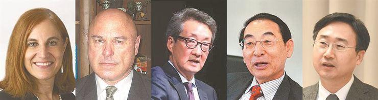 From left: Bonnie Glaser, Daniel Pinkston, Victor Cha, Kwak Tae-hwan, Shin Beom-chul