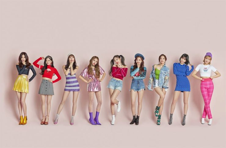 Top girl band TWICE will return April 9. / Courtesy of JYP Entertainment