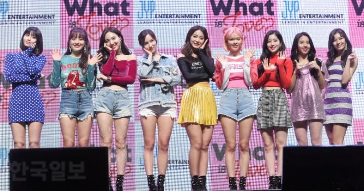 Heady days for TWICE as they sweep music charts