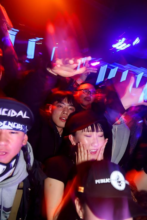 The colors of Korean hip-hop right now, as expressed through Korean rapper Changstarr at club Lucid Dream in Itaewon. All photos by Michael Hurt