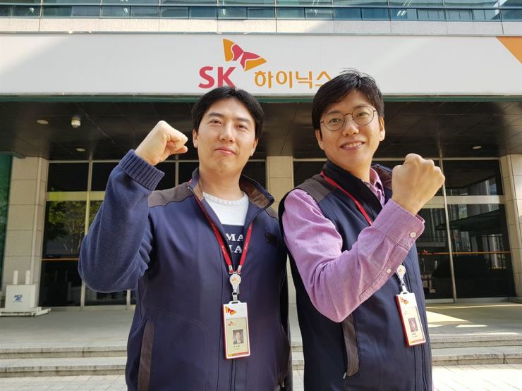 Lee Seong-dong, left, Shin Tae-hyun / Courtesy of SK hynix