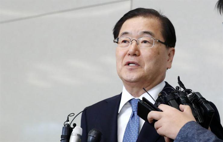 President Moon Jae-in's top national security adviser Chung Eui-yong. / Korea Times