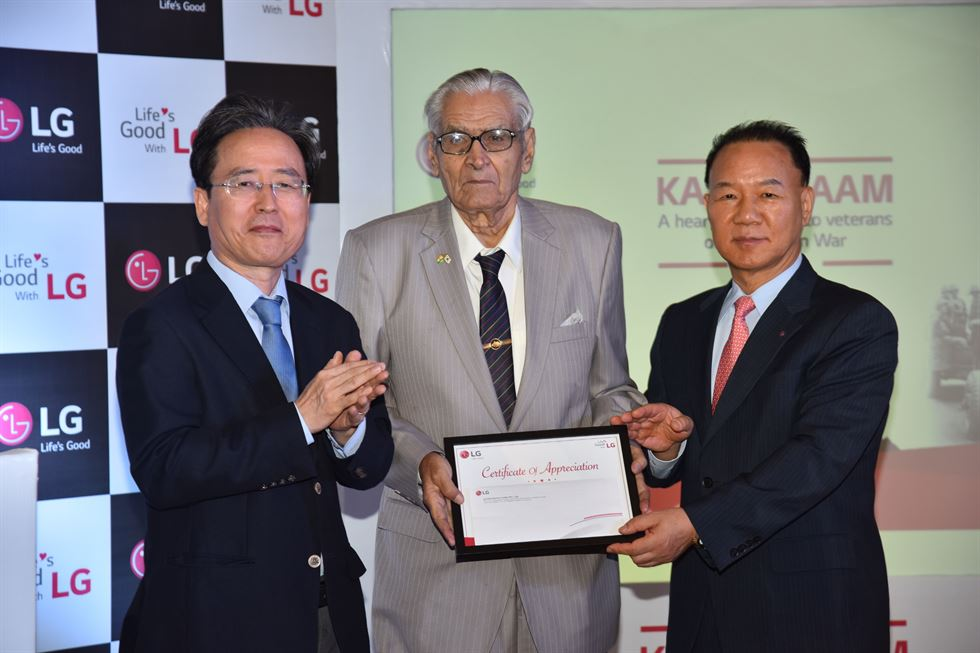 LG supports Korean War veterans in India