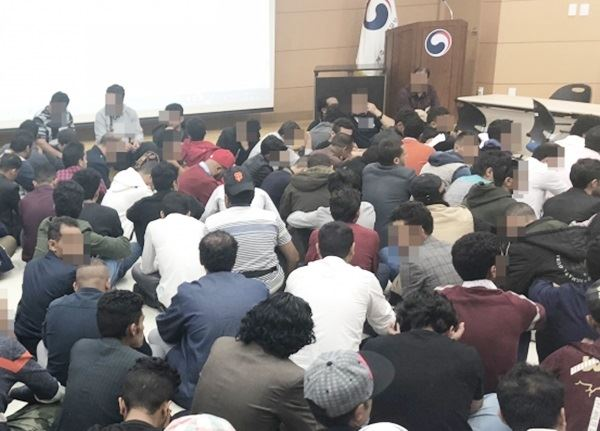 Jeju Immigration Office in Jeju Island is filled with Yemenis applying for refugee status in South Korea. Online community