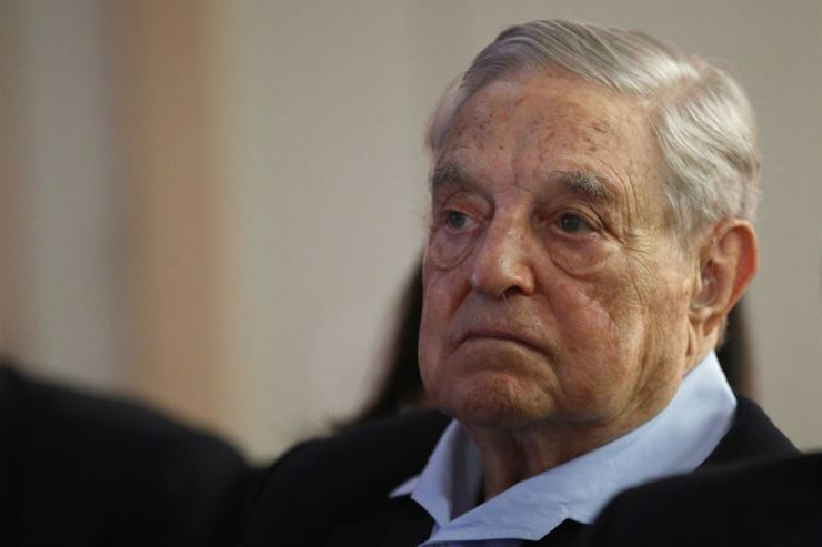 George Soros participates in the European Council on Foreign Relations in Paris, May 29. / AP-Yonhap