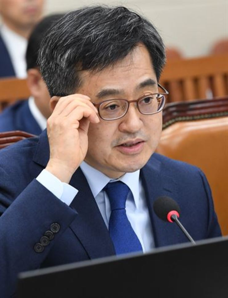 Strategy and Finance Minister Kim Dong-yeon