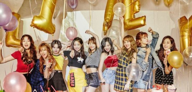 K-pop girl band TWICE. Courtesy of JYP Entertainment