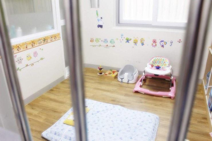Mercy of prison pororo cartoon character wallpaper for imprisoned a prison cell decorated with the pororo wallpaper has a baby walker and baby seat at the ready courtesy of seoul east regional correctional headquarters altavistaventures Choice Image