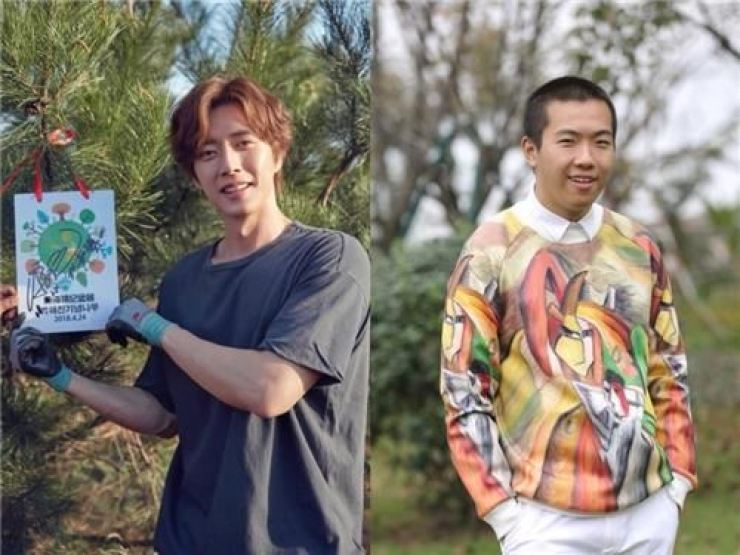 Park Hae-jin, left, and Bi Changyu. Courtesy of Mountain Movement and BCY