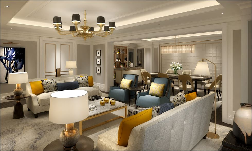 The Royal Suite of Lotte Hotel Seoul's Executive Tower is the largest of its kind in Korea. / Courtesy of Lotte Hotels and Resorts