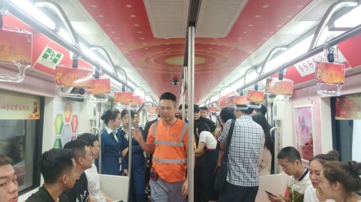 A subway train promoting the political ideology of President Xi Jinping has been operating in Changchun, Jilin province, since Sunday. Weibo